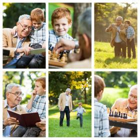 Collage de recuerdo con 6 fotos
