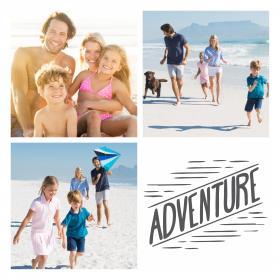 Collage de vacaciones 3 con 3 fotos