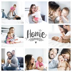 "Collage familia ""Hogar"" 3 con 8 fotos thumb"
