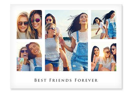 collage aluminio motivo amistad