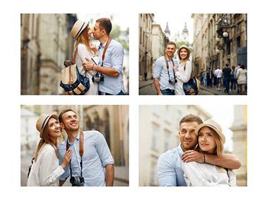 collage con 4 fotos slider