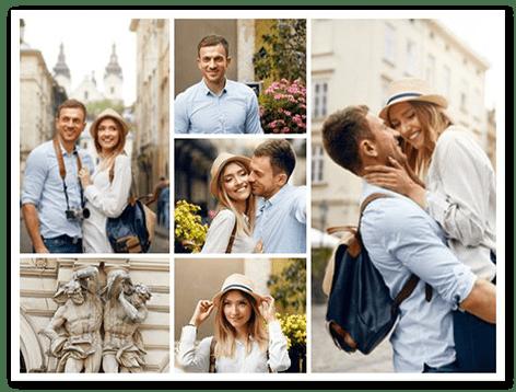 collage con fotos top