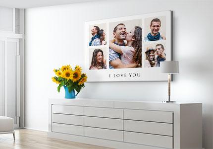collage lienzo motivo amor anunc