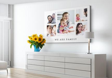 collage poster motivo familia anunc