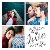 crear collage con corazon
