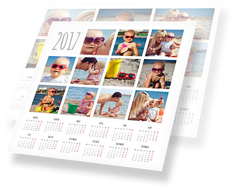 foto collage calendario visual