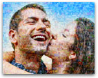 mosaico motivo pareja pequeño